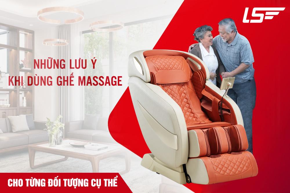 Những lưu ý khi dùng ghế massage cho từng đối tượng cụ thể